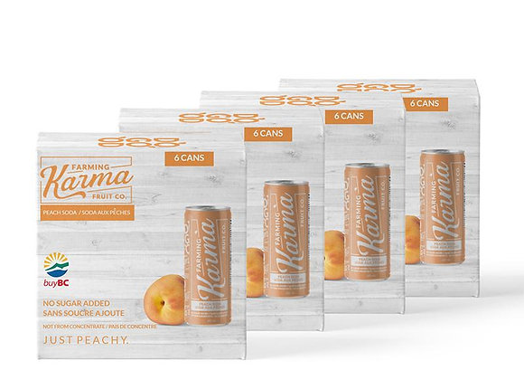 Farming Karma Peach Soda (1 case)