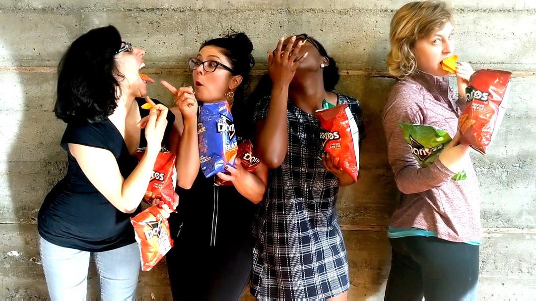 Dear Pepsi, we eat Doritos just like the mens.