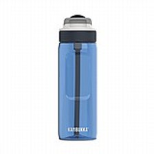 בקבוק שתייה 750 מ״ל כחול בהיר עם קש