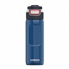 בקבוק שתייה 750 מ״ל כחול עם קש