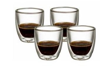 סט כוסות אספרסו דופן כפולה