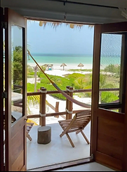 pic looking from a bedroom out to the water