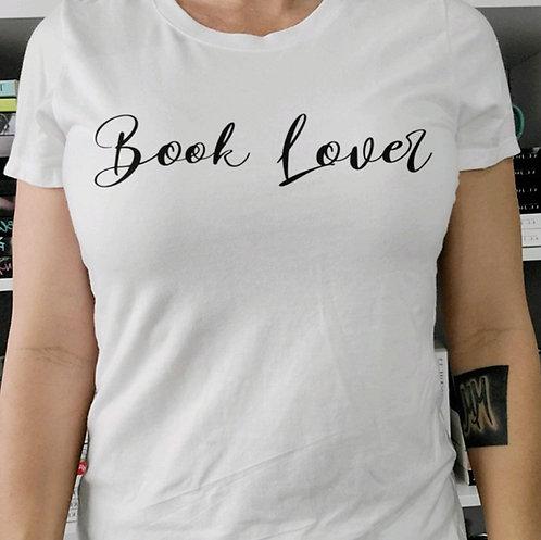 Book Lover White Crew Neck