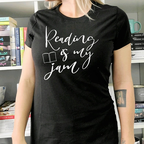 Reading is My Jam Black Crew Neck