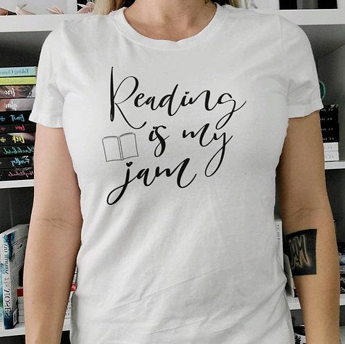 Reading is My Jam White Crew Neck