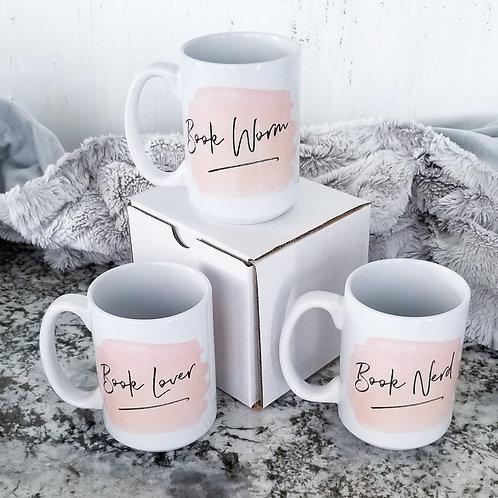 Set of Book Lover Mugs