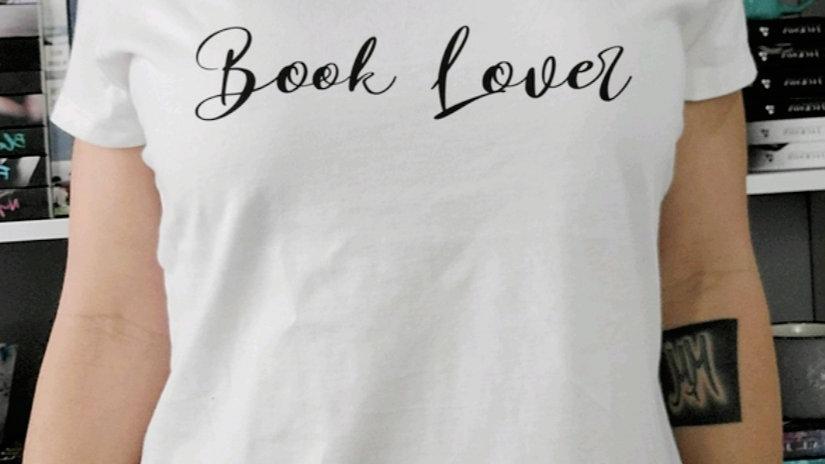 Book Lover White V-Neck