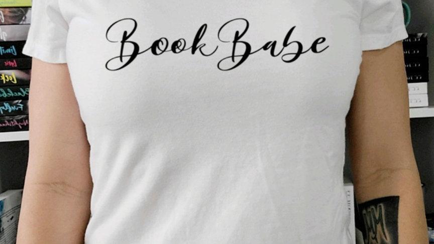 Book Babe White Crew Neck