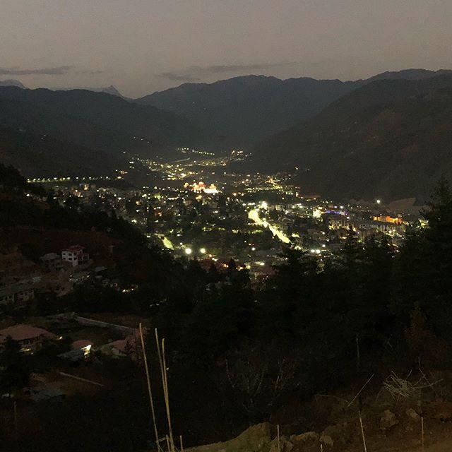 Nighttime #Thimphu #Bhutan