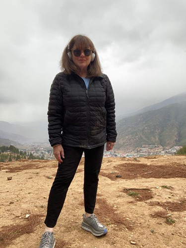 Me ona walk above Thimphu