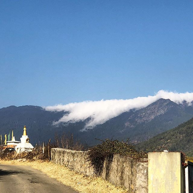 Tabletop clouds #Thimphu #Bhutan #clouda