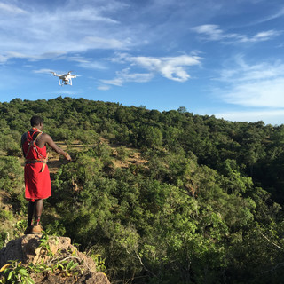 Drohnenaufnahmen bei den Maasai in Kenia