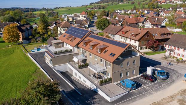 Solaranlage auf Neubau