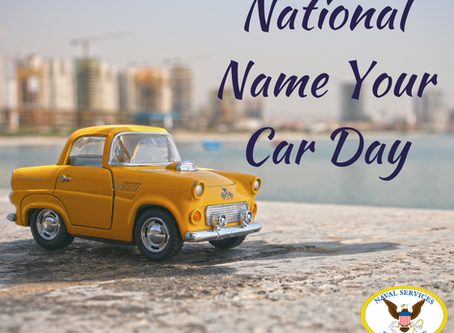 National Name Your Car Day!