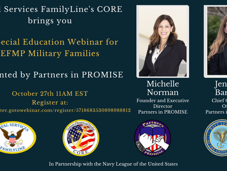 Special Education Webinar for EFMP Families
