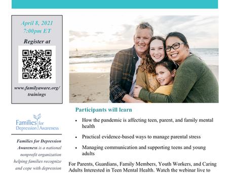 Pandemic Parenting: Supporting Teen Mental Health Webinar