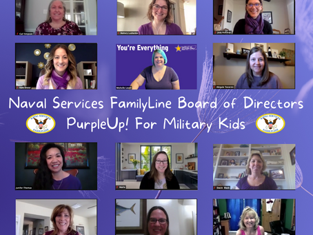 Purple Up! For Military Kids Day!