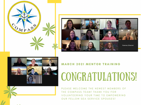 Congratulations to our Newest COMPASS Mentors!