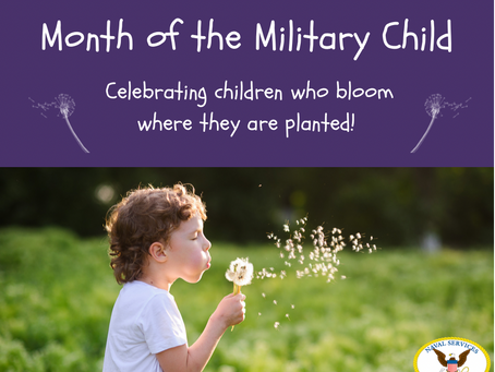 April is the Month of the Military Child!
