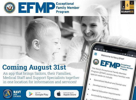 EFMP App in the Navy App Locker-August 31