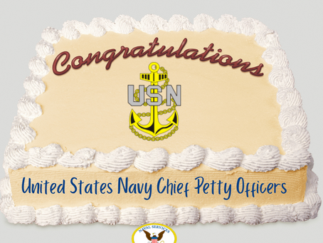 Congratulations Chief Petty Officers!
