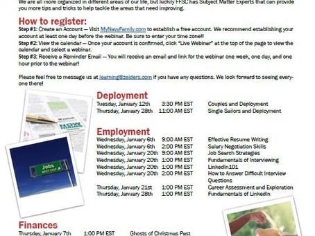 January FFSC Virtual Webinar Schedule