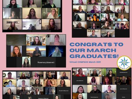 Congratulations to our March Virtual COMPASS Graduates!