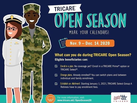 Last Day for TRICARE Open Enrollment is Tomorrow!