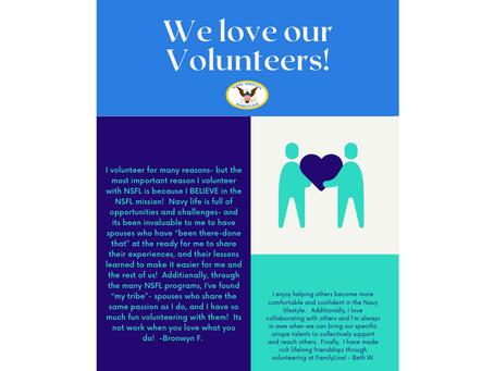We love our volunteers!!