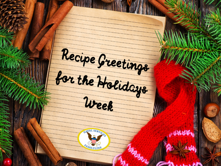 Recipe Greetings for the Holidays Week