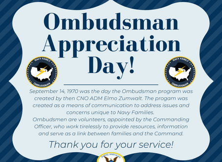 Happy 50th Anniversary to the Navy Ombudsmen Program