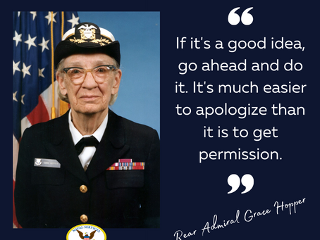 Inspirational Quote from Rear Admiral Grace Hopper