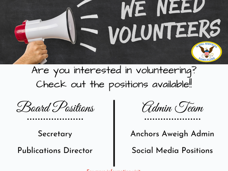 Volunteer Positions Available!
