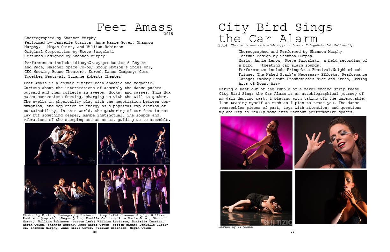 Feet Amass and City Bird Sings the Car Alarm
