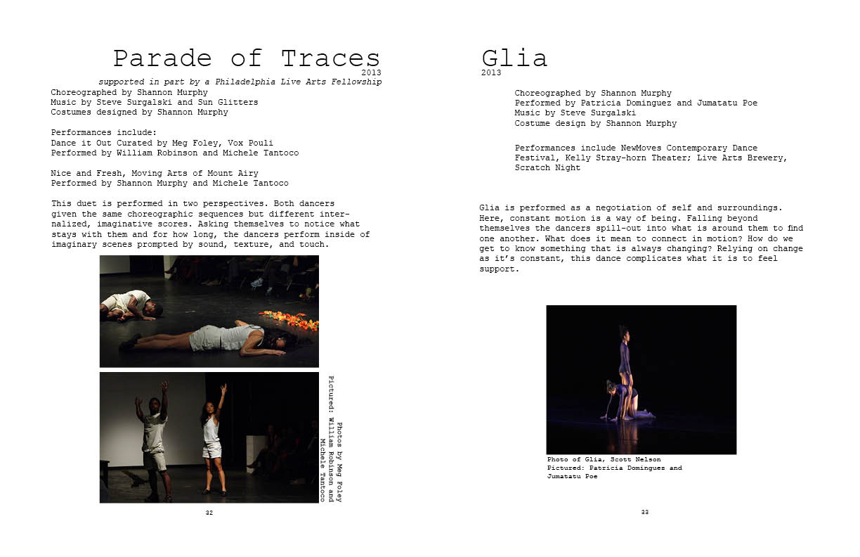 Parade of Traces and Glia