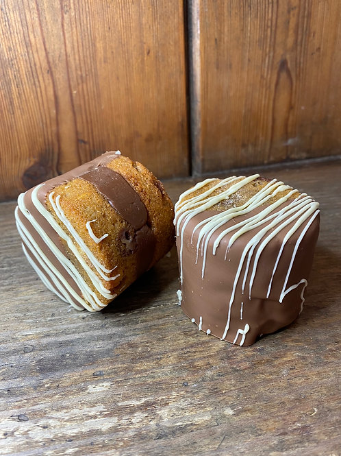 Double Chocolate Cookie Fudge Sandwiches