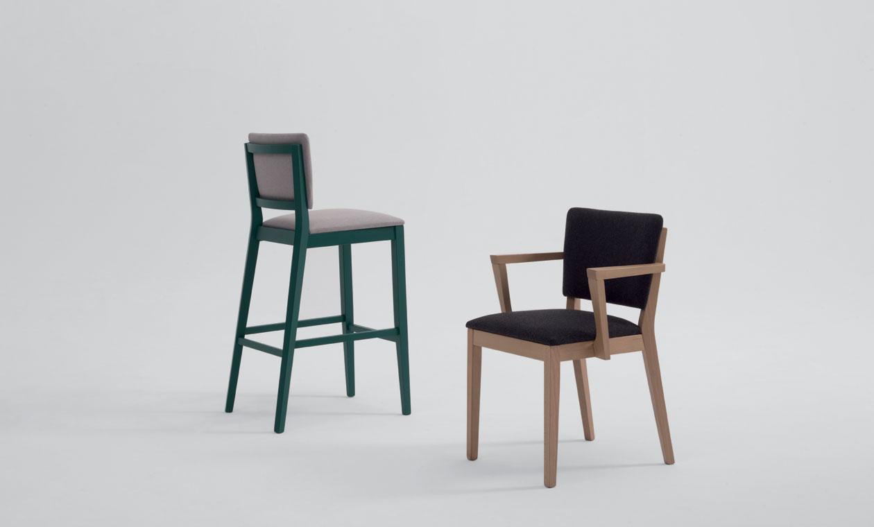 Posh stool & armchair