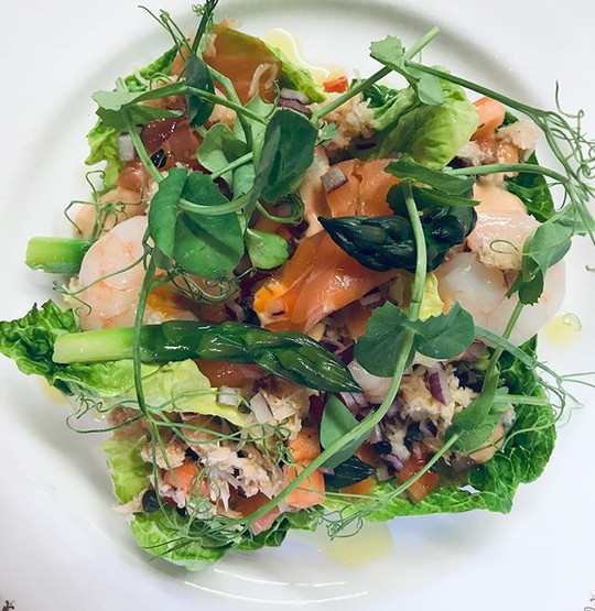 A delicious fish salad for our lovely An