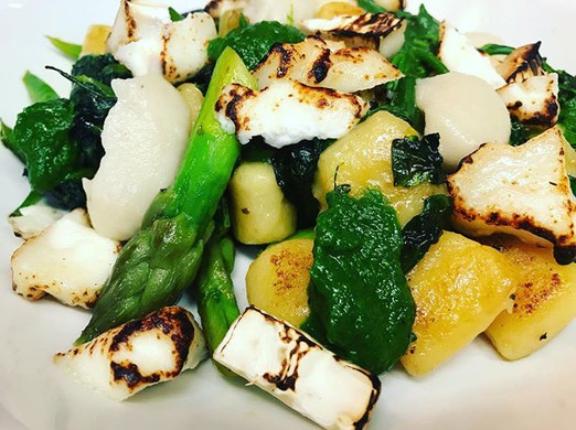 Fresh Potato Gnocchi, Wild Garlic Puree,
