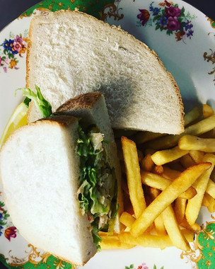 Fresh Crab Sarnie with Pickled Cucumbers
