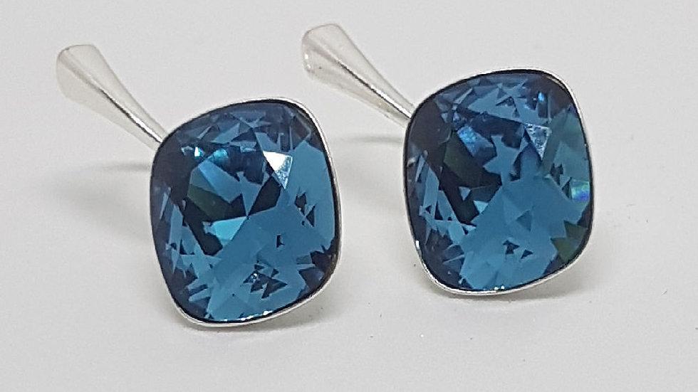 Sterling Silver Swarovski Rhombus earrings