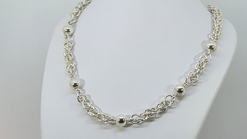 Jens Pind Linkage chainmaille necklace