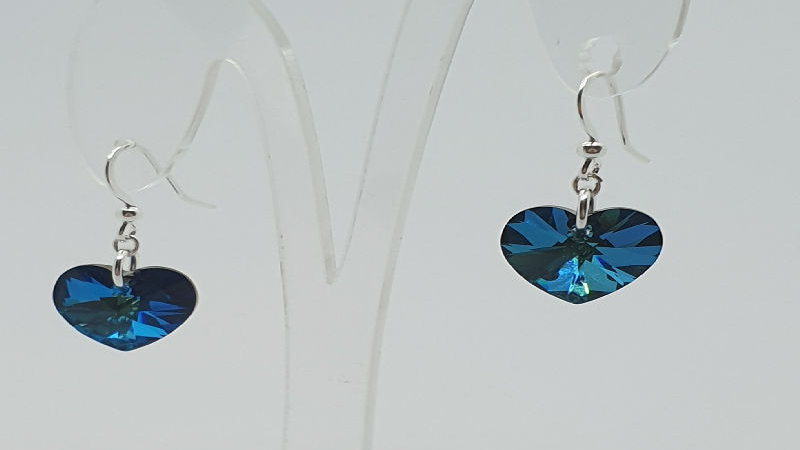 Bermuda Blue AB Swarovski earrings