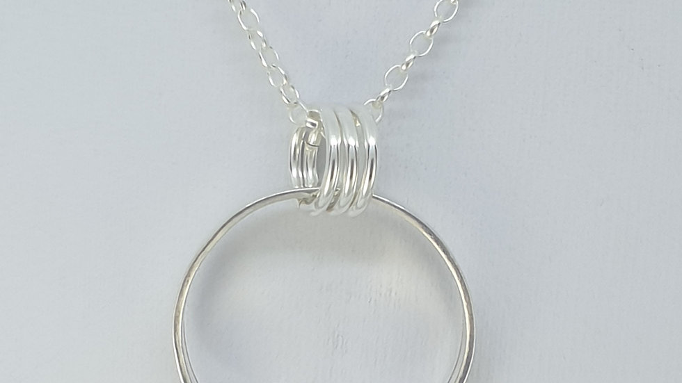 Sterling silver ring pendant