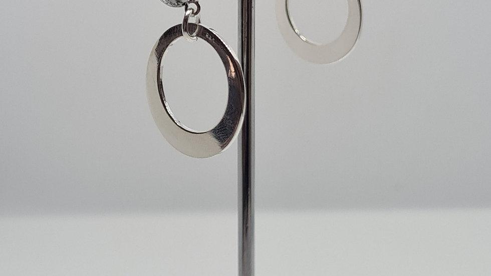 20mm Offset circles earrings