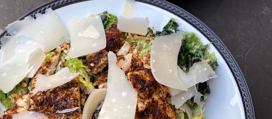 Blackened Chicken Kale Caesar