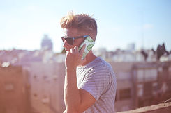 Guy Holding a Phone