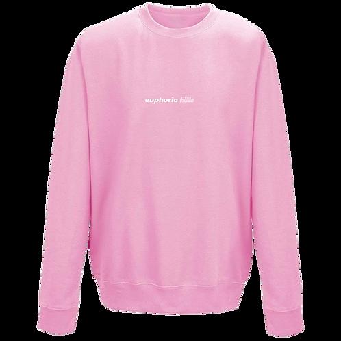Euphoria Hills Printed Pink Sweatshirt
