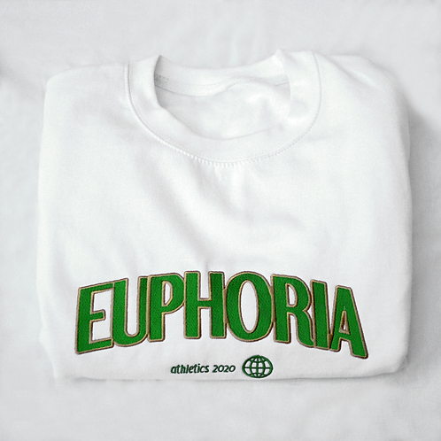 Athletics Sweater White/Green