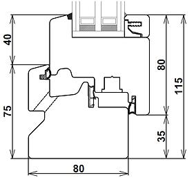 Disegno tecnico sezione verticale traverso inferiore